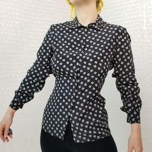 Koos Van Der Akker Vintage 80s floral silk blouse